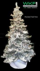 Flocked Vail Tree