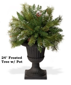 "24"" Frosted Tree Potted"